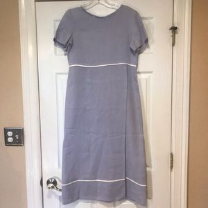 Talbots Lavender Maxi Zip Up Dress Petites Size 2